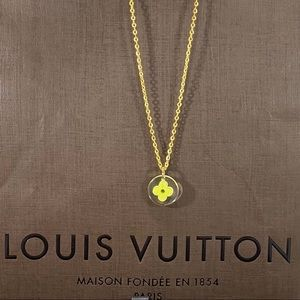 LOUIS VUITTON Acrylic LV Clover Charm Necklace